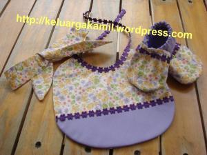 sepatu bayi, bip dan headband set