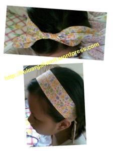 variasi pemakaian headband