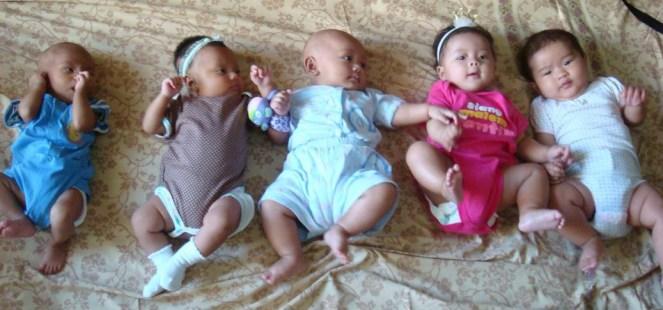 ki-ka dari yang paling muda : Ganesh, Zahra, Hana, Naira, Maira