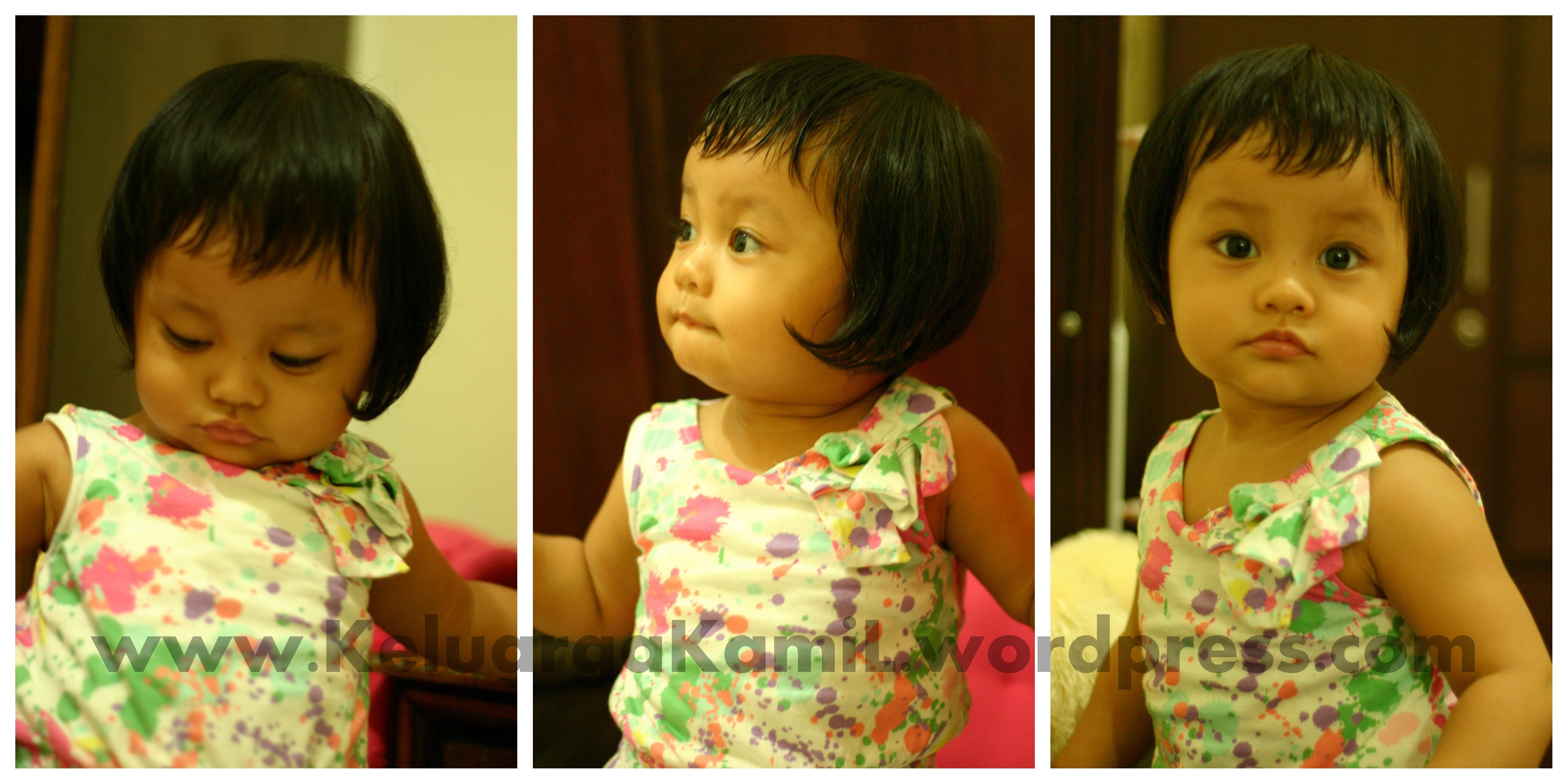 First Hair Cut Mencoba Sakinah